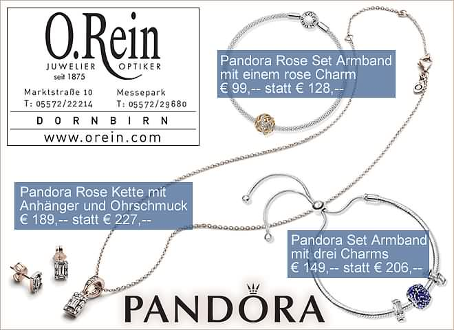 O.Rein, Juwelier & Optiker: PANDORA-AKTION !!