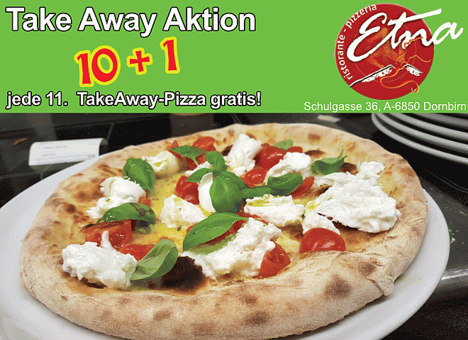 Pizzeria Etna: 10 + 1 Take Away Aktion
