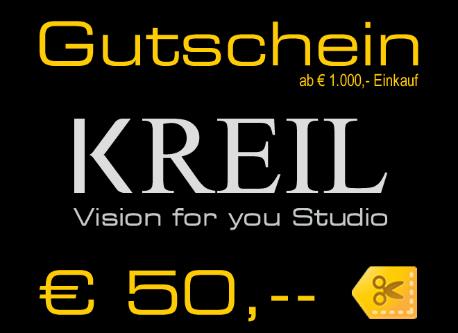 € 50,-- Gutschein - VISION FOR YOU – Studio KREIL mit den neuesten Techniken