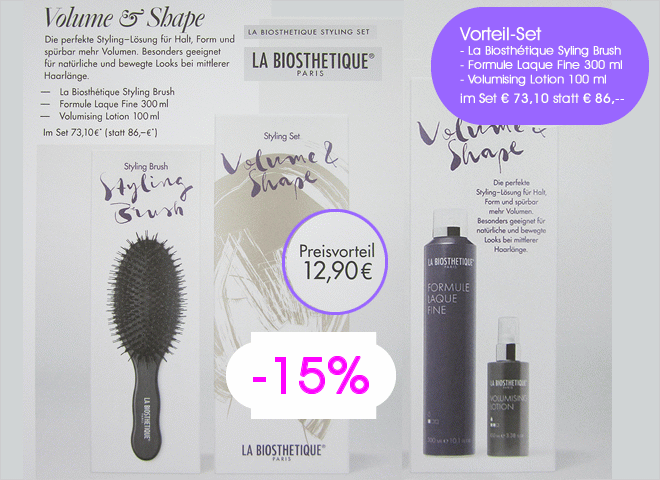 Biosthétique Aktion Volume & Shape mit Styling Brush