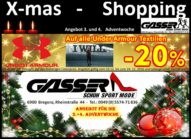 -20% Super-Anktion auf alle Under Armour Textilien
